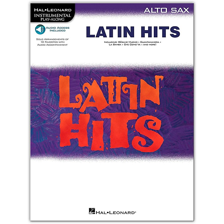 Hal Leonard Latin Hits for Alto Saxophone Book/CD