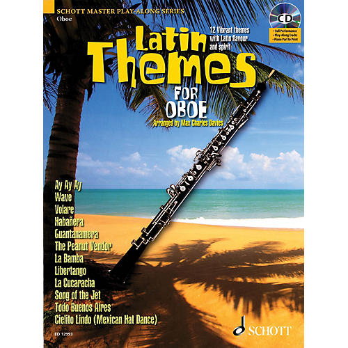 Schott Latin Themes for Oboe Instrumental Play-Along Series BK/CD-thumbnail