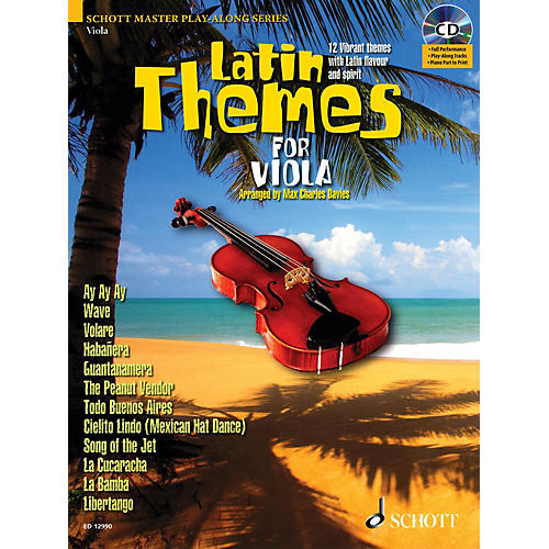 Schott Latin Themes for Viola (for Viola) Instrumental Play-Along Series Softcover with CD-thumbnail