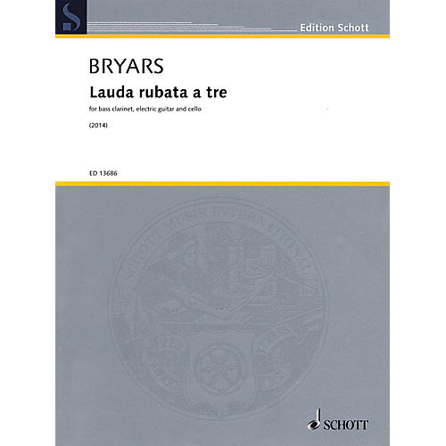 Schott Lauda rubata a tre Misc Series Softcover Composed by Gavin Bryars-thumbnail
