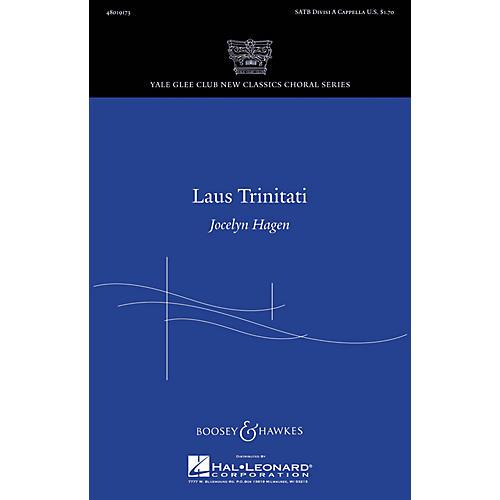 Boosey and Hawkes Laus Trinitati SATB a cappella composed by Jocelyn Hagen