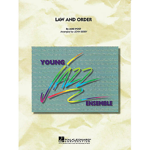 Hal Leonard Law and Order Jazz Band Level 3 Arranged by John Berry