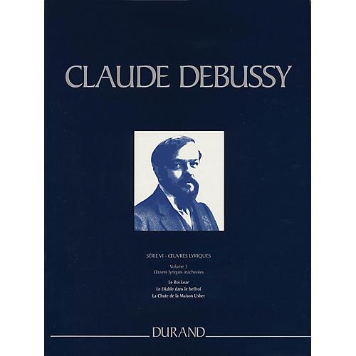 Editions Durand Le Roi Lear, Le Diable dans le beffroi, La Chute de la Maison Usher Critical Ed Full Score by Debussy-thumbnail