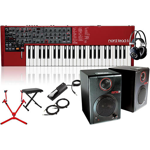 Nord Lead 4 Synthesizer with Matching Stand, RPM3 Monitors, Headphones, Bench, and Sustain Pedal-thumbnail
