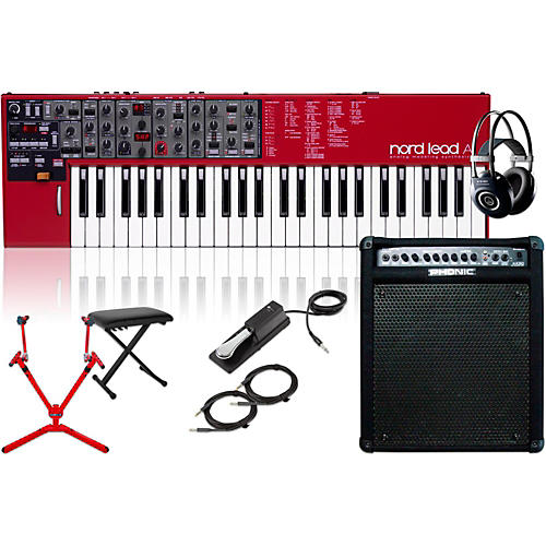Nord Lead A1 Analog Modeling Synth w/ Keyboard Amp, Matching Stand, Headphones, Bench & Sustain Pedal-thumbnail