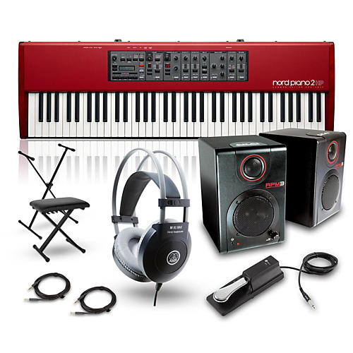 Nord Lead A1 Analog Modeling Synthesizer with RPM3 Monitors, Headphones, Bench, Stand, and Sustain Pedal