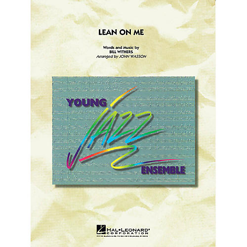 Hal Leonard Lean on Me Jazz Band Level 2 by Bill Withers Arranged by John Wasson-thumbnail