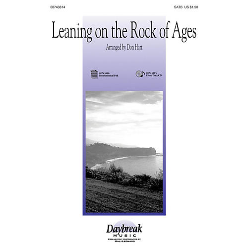 Hal Leonard Leaning on the Rock of Ages SATB arranged by Don Hart-thumbnail