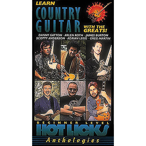 Hot Licks Learn Country Guitar with The Greats (VHS)-thumbnail