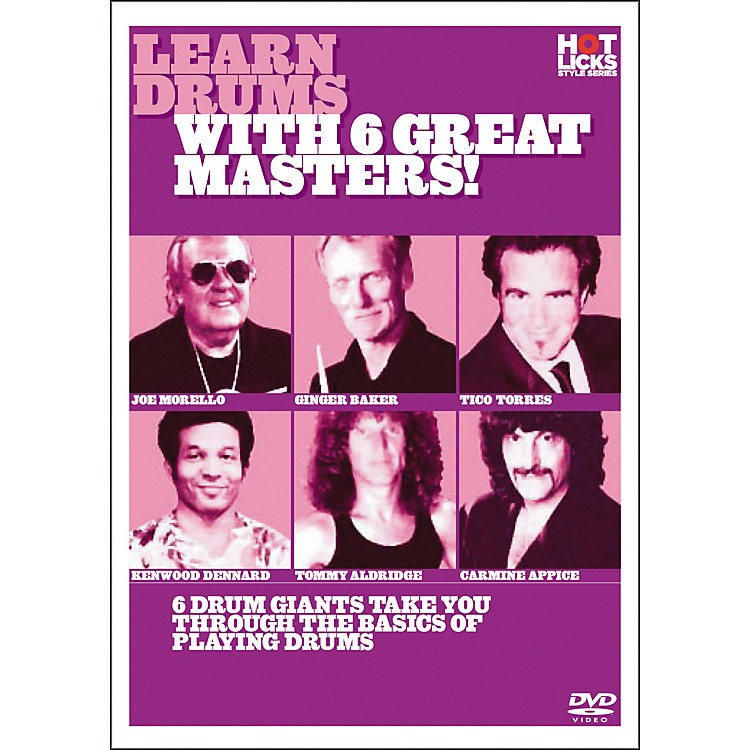 Hot LicksLearn Drums with 6 Great Masters DVD