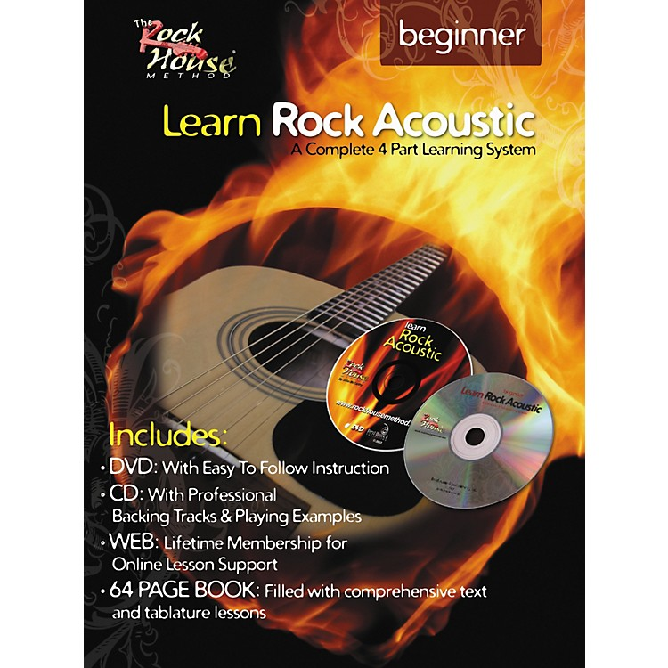 Rock House Learn Rock Acoustic Beginner Book/DVD/CD Combo