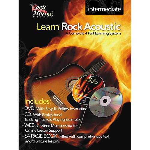 Rock House Learn Rock Acoustic Intermediate Book/DVD/CD Combo