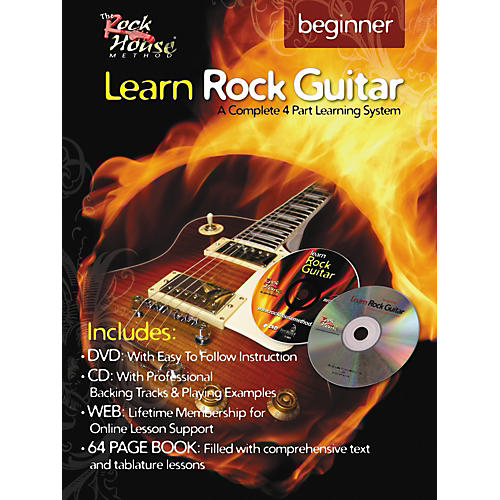 Hal Leonard Learn Rock Guitar Beginner Book/DVD/CD Combo