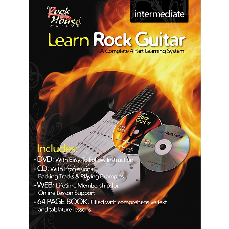 Rock House Learn Rock Guitar Intermediate Book/DVD/CD Combo