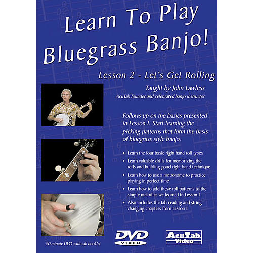 Mel Bay Learn to Play Bluegrass Banjo DVD - Lesson 2: Let's Get Rolling