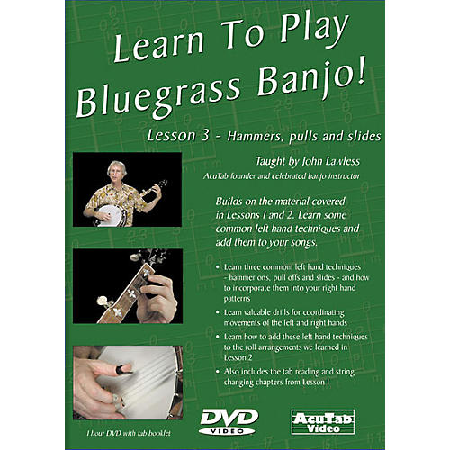 Mel Bay Learn to Play Bluegrass Banjo DVD - Lesson 3: Hammers, Pulls, & Slides-thumbnail