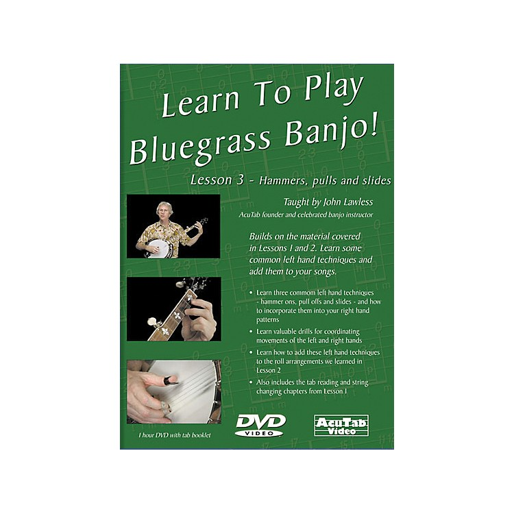 Mel Bay Learn to Play Bluegrass Banjo DVD - Lesson 3: Hammers, Pulls, & Slides