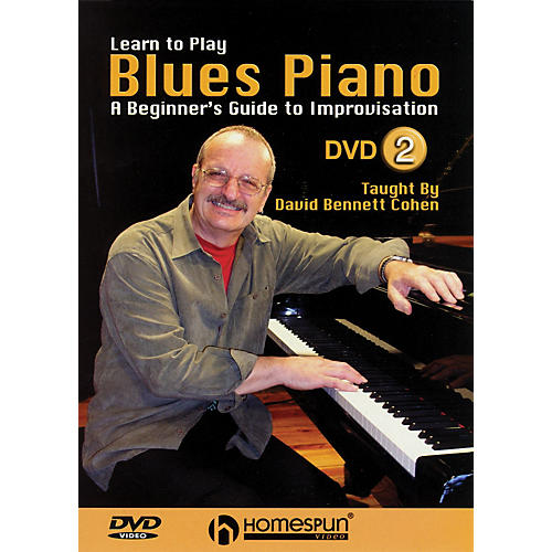 Learning Blues Piano From Music Score: A Beginner's Guide To Improvisation Homespun Tapes DVD By