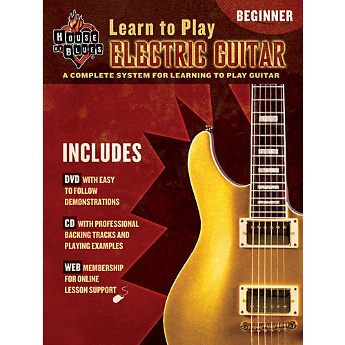 house of blues learn to play electric guitar beginner book cd dvd musician 39 s friend. Black Bedroom Furniture Sets. Home Design Ideas