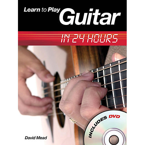 Music Sales Learn to Play Guitar in 24 Hours Music Sales America Series Softcover with DVD Written by David Mead-thumbnail