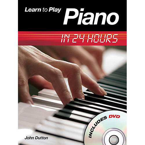Music Sales Learn to Play Piano in 24 Hours Music Sales America Series Softcover with DVD Written by John Dutton-thumbnail