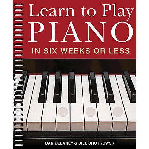 Music Sales Learn to Play Piano in Six Weeks or Less Music Sales America Series Softcover Written by Dan Delaney-thumbnail