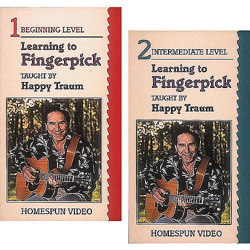 Homespun Learning To Fingerpick 2-Video Set (VHS)-thumbnail