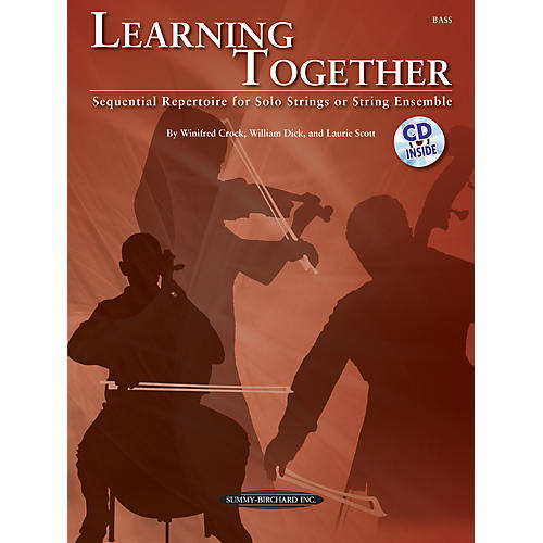 Summy-Birchard Learning Together for Upright Bass (Book/CD)
