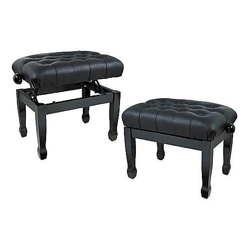 Musician's Gear Leather Concert Piano Bench Black