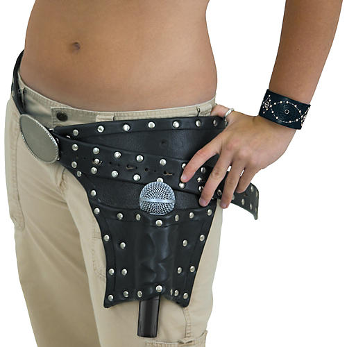 Rockstrap Leather Microphone Hoster Belt (Left Side)-thumbnail