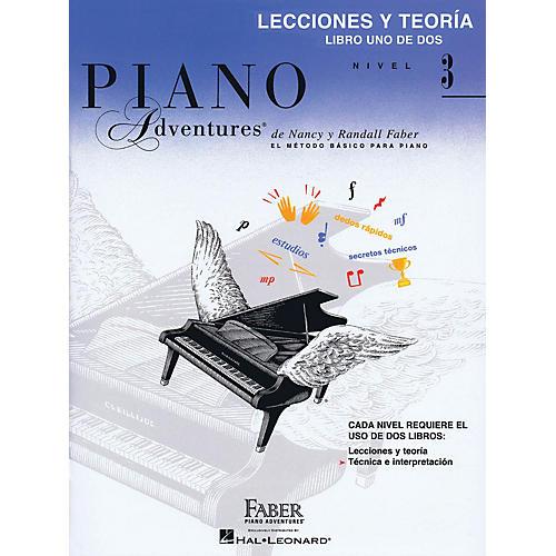 Faber Piano Adventures Lecciones Y Teoría - Libro Uno De Dos Nivel 3 Faber Piano Adventures® Series Softcover by Nancy Faber-thumbnail