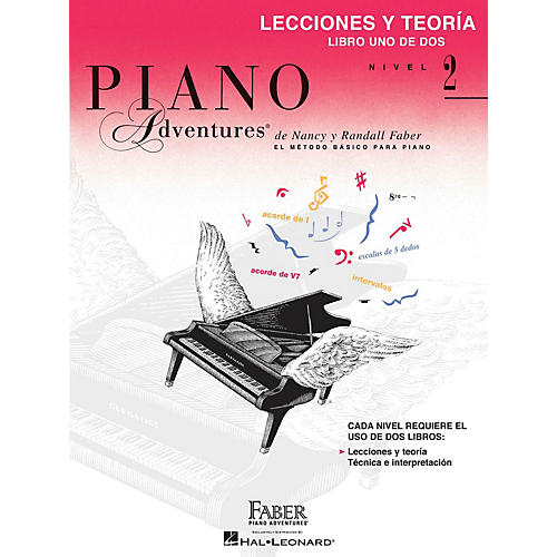 Faber Piano Adventures Lecciones y Teoría - Libro Uno de Dos Nivel 2 Faber Piano Adventures® Series Softcover by Randall Faber-thumbnail