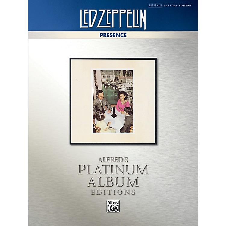 AlfredLed Zeppelin - Presence Platinum Bass Guitar TAB Book