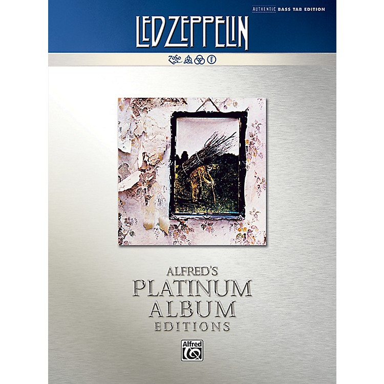 Alfred Led Zeppelin - Untitled (IV) Platinum Bass Guitar Book