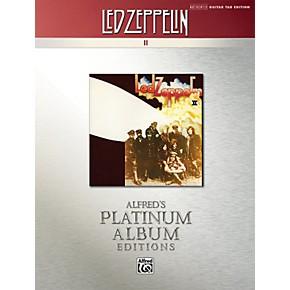 alfred led zeppelin ii guitar tab platinum edition book musician 39 s friend. Black Bedroom Furniture Sets. Home Design Ideas