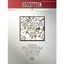 Alfred Led Zeppelin III Guitar Tab Platinum Edition Book