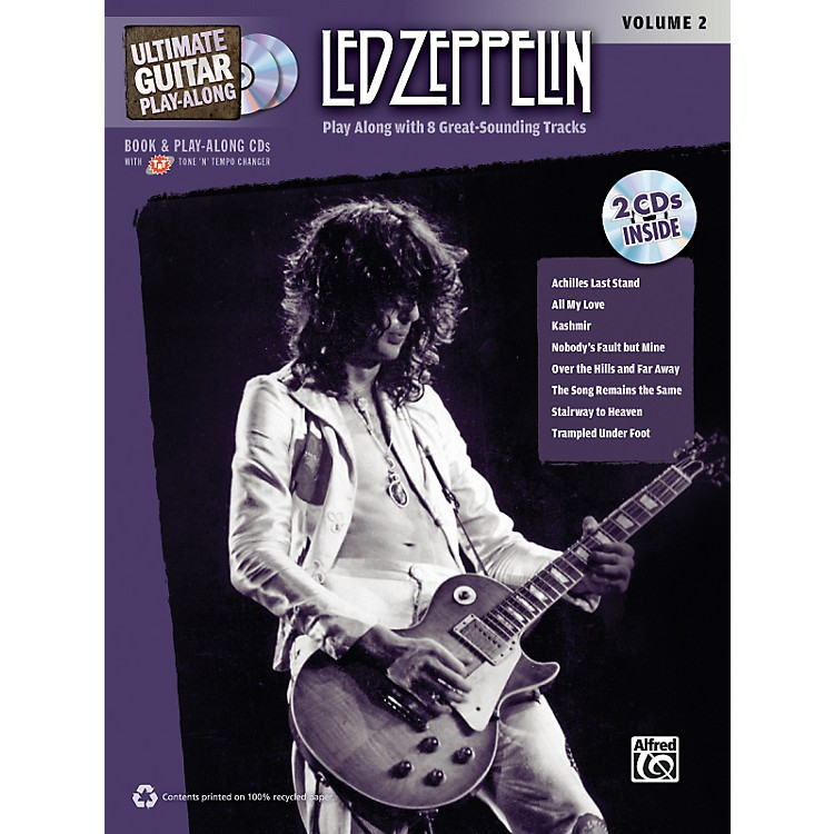 Alfred Led Zeppelin Ultimate Play Along Guitar Volume 2 with 2 CD's