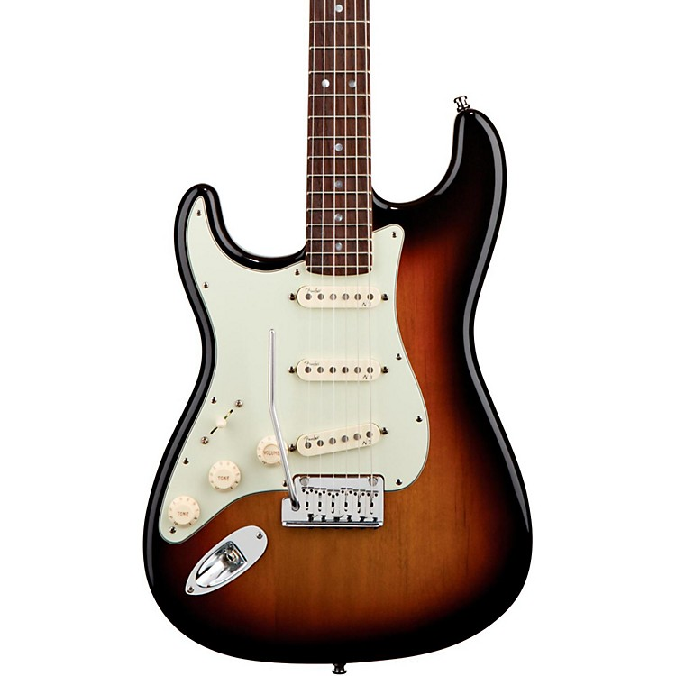 Fender Left-Handed American Deluxe Stratocaster Electric Guitar 3-Color Sunburst Rosewood