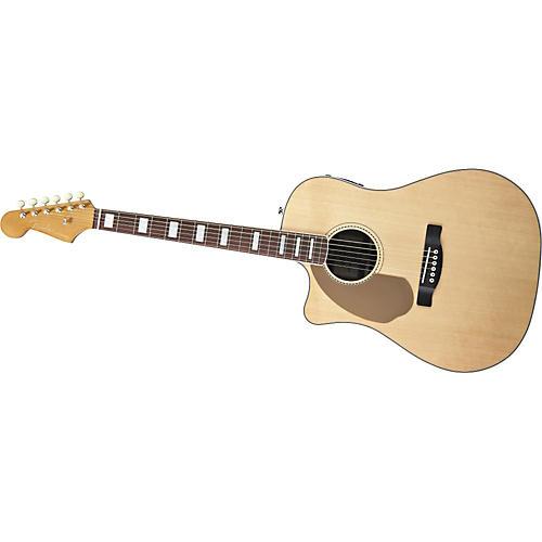 Fender Left-Handed California Series Kingman SCE Dreadnought Cutaway Acoustic-Electric Guitar