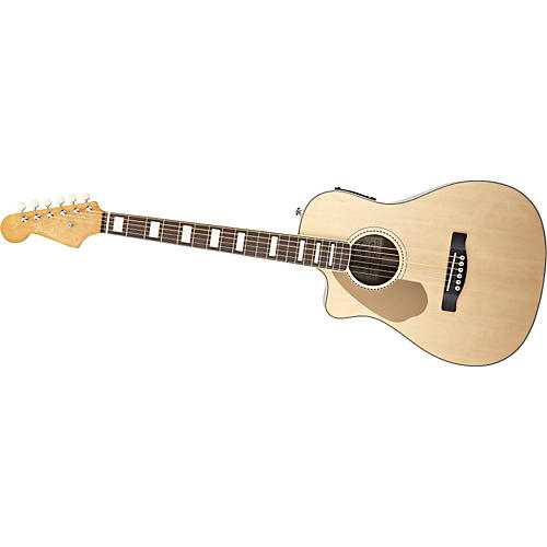 Fender Left-Handed California Series Malibu SCE Cutaway Acoustic-Electric Folk Guitar-thumbnail