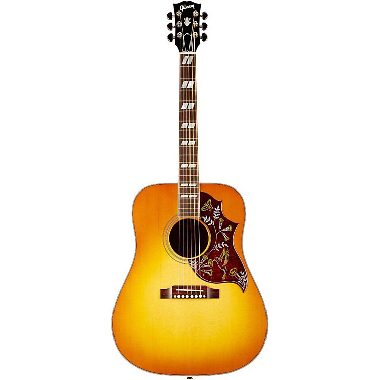 GibsonLeft-Handed Hummingbird Square Shoulder Dreadnought Acoustic-Electric GuitarHeritage Cherry SunburstNickel Hardware
