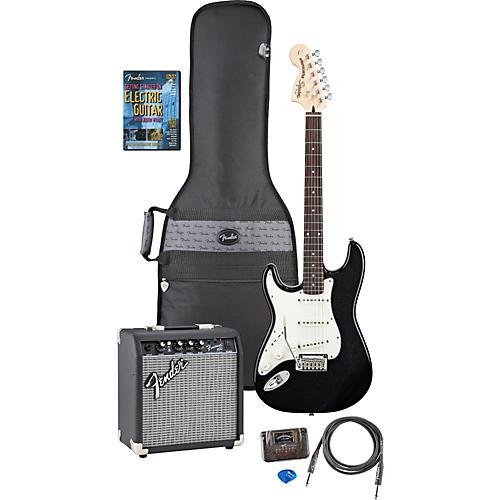 Fender Left Handed Standard Strat Electric Guitar Pack with DVD