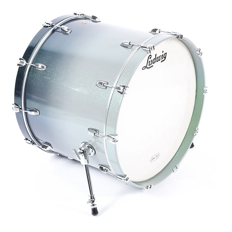 Ludwig Legacy Classic Lacquer Bass Drum 18X24 Emerald Fade Lacquer