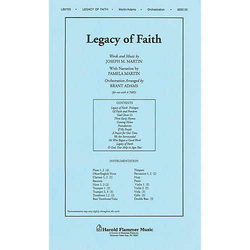 Shawnee Press Legacy of Faith Score & Parts arranged by Brant Adams