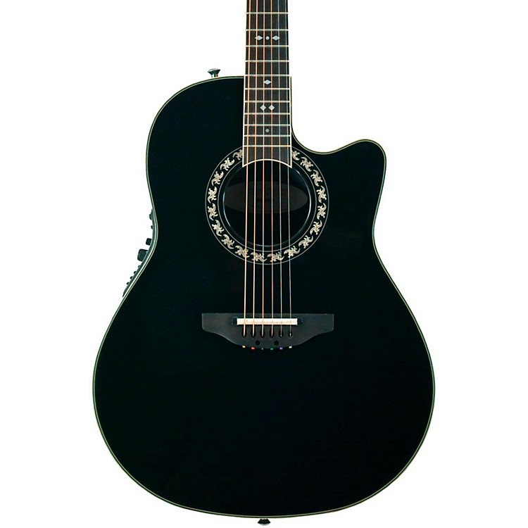 Ovation Legend 2077 AX Deep Contour Acoustic-Electric Guitar Black