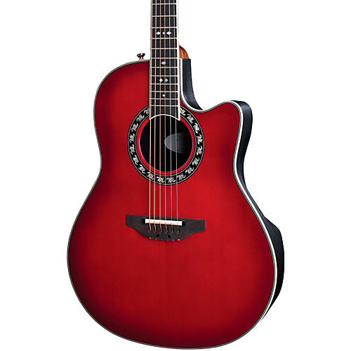 Ovation Legend 2077 AX Deep Contour Acoustic-Electric Guitar Cherry Cherry Burst