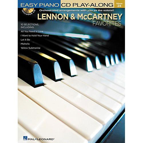 Hal Leonard Lennon & McCartney Favorites - Easy Piano CD Play-Along Volume 24 Book/CD