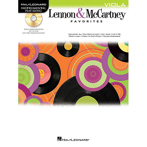 Hal Leonard Lennon & McCartney Favorites (Viola) Instrumental Play-Along Series Softcover with CD by John Lennon-thumbnail