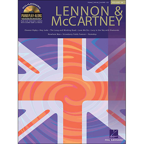Hal Leonard Lennon & McCartney Piano Play-Along Volume 28 Book/CD arranged for piano, vocal, and guitar (P/V/G)
