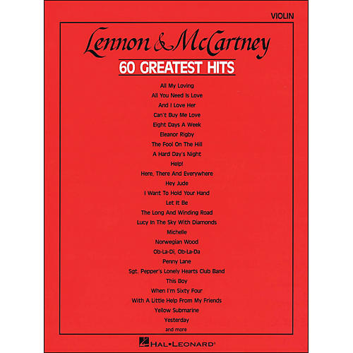 Hal Leonard Lennon & Mccartney 60 Greatest Hits Violin-thumbnail